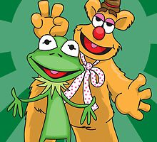 Kermit and Fozzie by AngelGirl21030