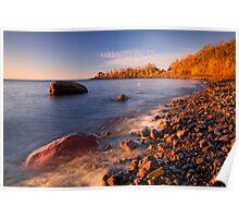 Cut Face Creek, Lake Superior Poster