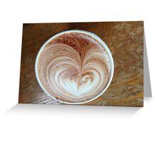 Hot Chocolart Greeting Card