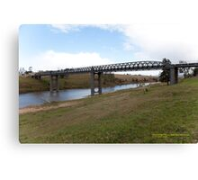 Elderslie Bridge over Hunter River, NSW Australia Canvas Print