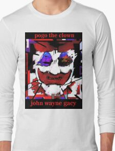 John Wayne Gacy Art Long Sleeve T-Shirt