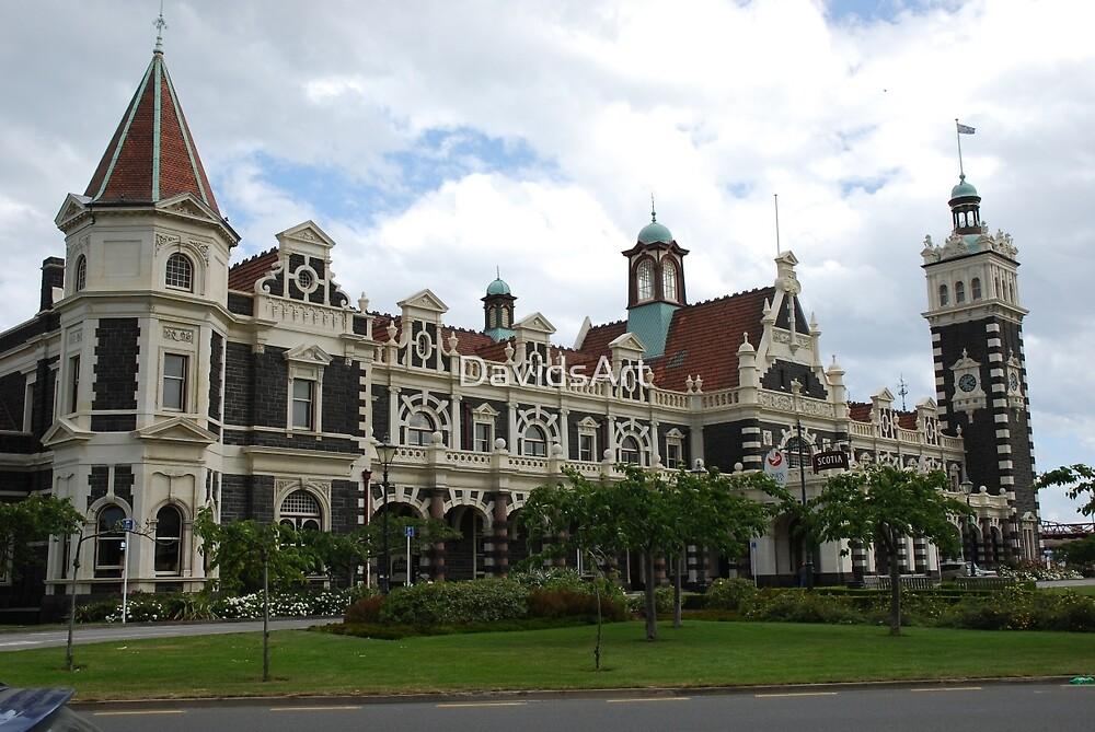 0143 Dunedin Railway Station by DavidsArt