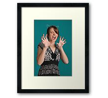 AHHH! IT TOUCHED ME!! Framed Print