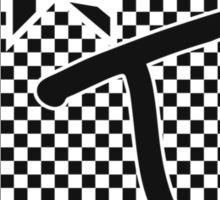 WTF Happened? black checker Sticker