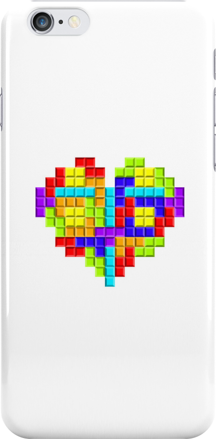 Tetris Block Heart by Waconer
