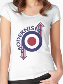 Modernism mod target and arrows Women's Fitted Scoop T-Shirt