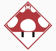 Red Mario Mushroom Shipping Placard by W4rnings