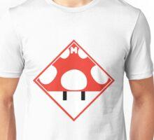 Red Mario Mushroom Shipping Placard Unisex T-Shirt