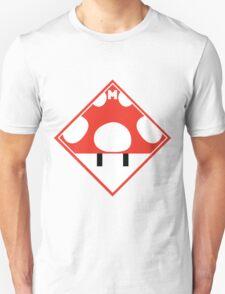 Red Mario Mushroom Shipping Placard T-Shirt