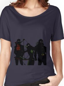 The Arrowfam in Young Justice Women's Relaxed Fit T-Shirt