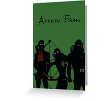 The Arrowfam in Young Justice Greeting Card