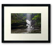 X Marks the Waterfall Framed Print