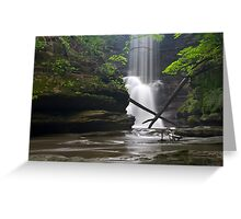 X Marks the Waterfall Greeting Card