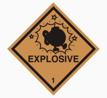 Bobomb Explosive Shipping Placard by W4rnings