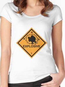 Bobomb Explosive Shipping Placard Women's Fitted Scoop T-Shirt