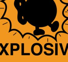 Bobomb Explosive Shipping Placard Sticker