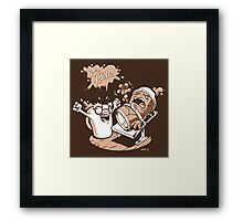 Dr. Caffeinstein's Monster Framed Print