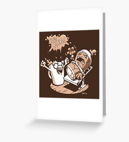 Dr. Caffeinstein's Monster Greeting Card