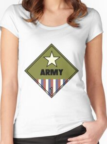 WW2 American Army Shipping Placard Women's Fitted Scoop T-Shirt