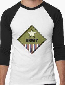 WW2 American Army Shipping Placard Men's Baseball ¾ T-Shirt
