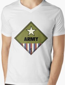 WW2 American Army Shipping Placard Mens V-Neck T-Shirt