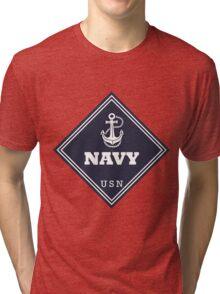 WW2 American Navy Shipping Placard Tri-blend T-Shirt
