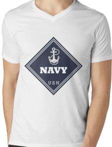 WW2 American Navy Shipping Placard Mens V-Neck T-Shirt
