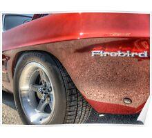 Red Firebird Hot Rod  Poster