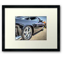 Black Hot Rod Reflection Framed Print
