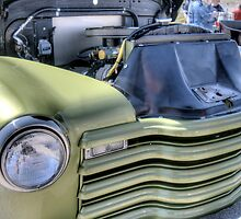Green Classic Hot Rod Pickup  by David Shayani