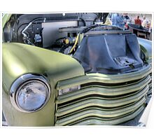 Green Classic Hot Rod Pickup  Poster