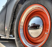 Classic Car Tire and Hub by David Shayani