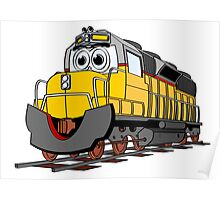 Cartoon Locomotive Train Poster
