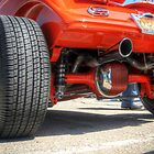 Rear End Of a Red Hot Rod by David Shayani