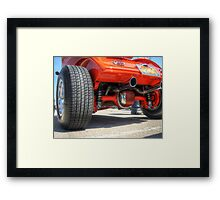 Rear End Of a Red Hot Rod Framed Print