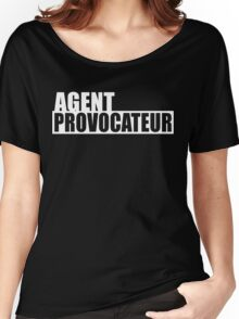 Agent Provocateur (White Print) Women's Relaxed Fit T-Shirt