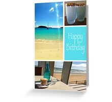 Beach inspired Greeting Card