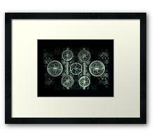 ©DA Fractal Planes Monochrome Framed Print