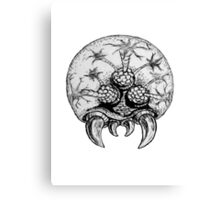 Metroid traditional Ink'd Canvas Print