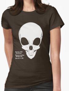 Martian Skull Womens Fitted T-Shirt