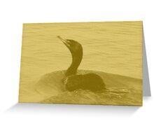 Cormorant Greeting Card