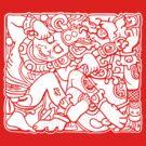 Fight Like A Mayan (White Print) by GritFX