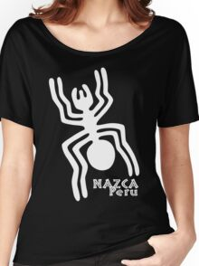 Nazca (White Print) Women's Relaxed Fit T-Shirt