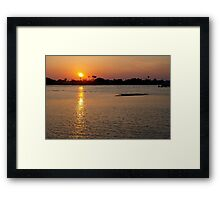Real shining light-the natural world Framed Print