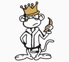 Monkey King with Banana and Crown Kids Tee