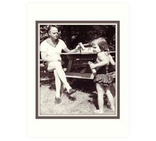 Daddy, Tricia and CrackerJack, 1959 Art Print
