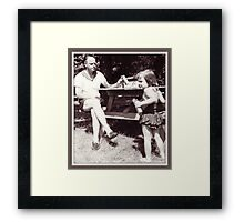 Daddy, Tricia and CrackerJack, 1959 Framed Print