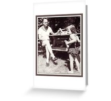 Daddy, Tricia and CrackerJack, 1959 Greeting Card