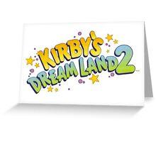 Kirby's Dreamland 2 Greeting Card