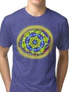 LOZENGE YELLOW TEE SHIRT/ KIDS TEE/STICKER Tri-blend T-Shirt